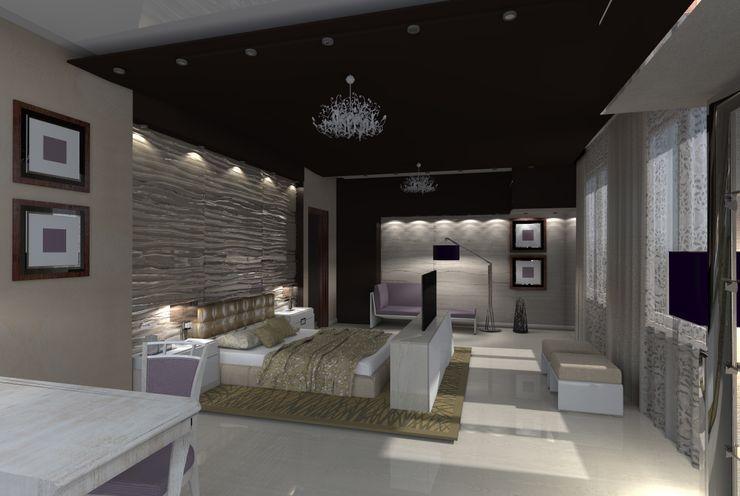 Дом Мастерская дизайна ЭГО Спальня в стиле модерн
