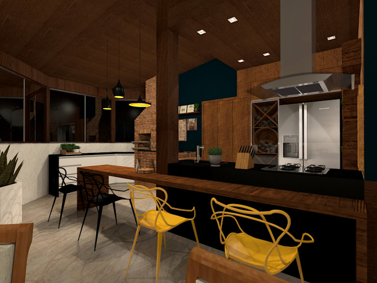 Konverto Interiores + Arquitetura Balcones y terrazas de estilo rústico