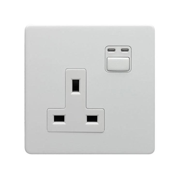 LIGHTWAVERF 1 GANG 13A SOCKET (WHITE) DirectTradeSupplies Multimedia roomElectronics