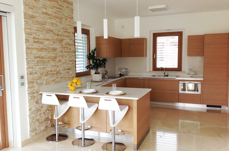 Family House Lucia D'Amato Architect Cucina moderna