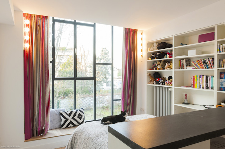 Chambre dans l'extension maéma architectes Chambre moderne