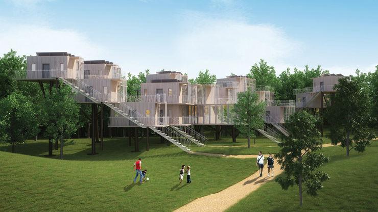 Maisons dans les arbres - intégration dans le paysage Pepindebanane Maisons originales