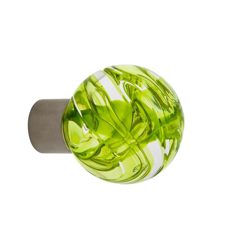 Bouton de meuble Lavallière vert anis sphérique Les Verreries de Bréhat MaisonAccessoires & décoration Verre Vert