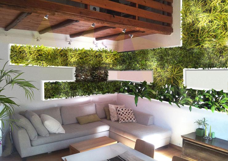 Dotto Francesco consulting Green Modern living room