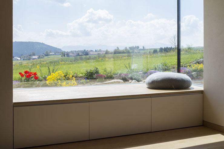 Haus Hiemer architektur + raum Moderne Fenster & Türen