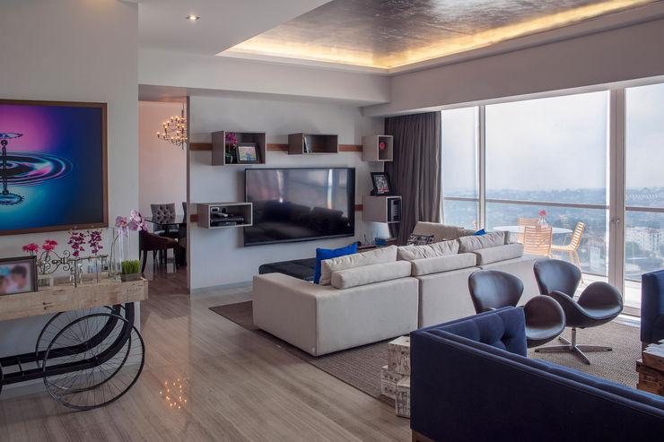 kababie arquitectos Modern living room