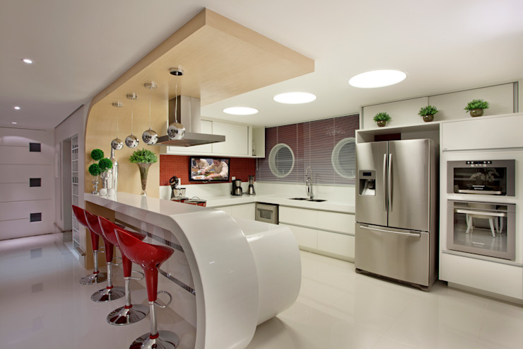 Designer de Interiores e Paisagista Iara Kílaris مطبخ
