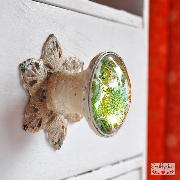 PAISLEY GREEN Möbelknopf Shabbyflair WohnzimmerAccessoires und Dekoration