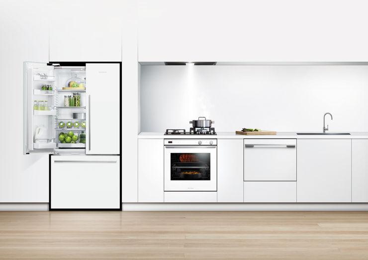New Flat white range of fridge freezers Fisher Paykel Appliances Ltd KücheAccessoires und Textilien