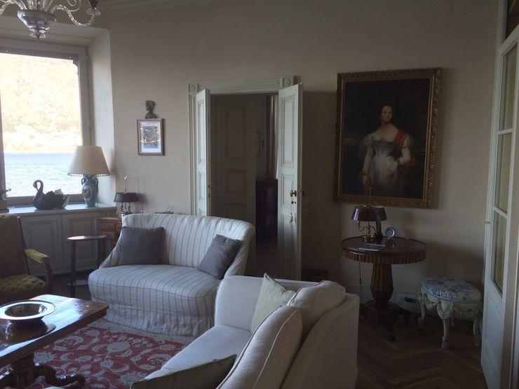 Villa Taglioni – Blevio Como Lake Archiluc's - Studio di Architettura Stefano Lucini Architetto Salones de estilo clásico