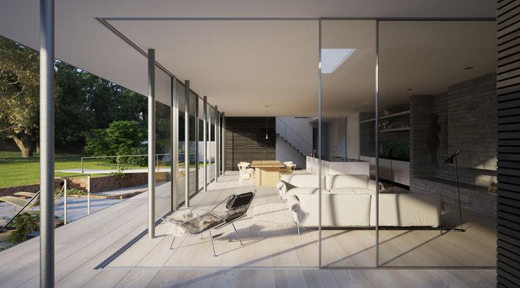 Private House, Suffolk Strom Architects Salones de estilo escandinavo