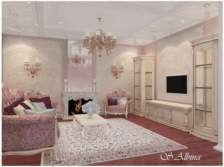 студия авторского дизайна Альбины Сибагатулиной Salones de estilo clásico