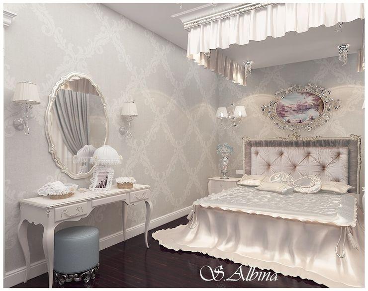 студия авторского дизайна Альбины Сибагатулиной Dormitorios de estilo ecléctico