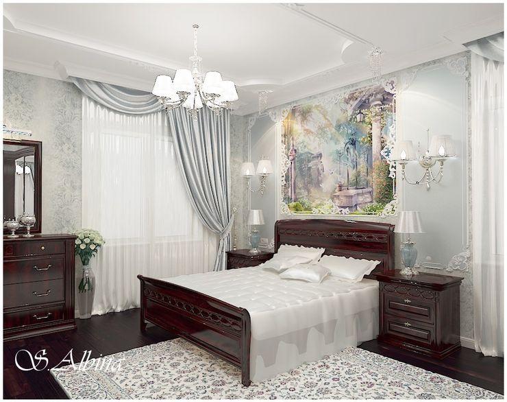 студия авторского дизайна Альбины Сибагатулиной Dormitorios de estilo clásico