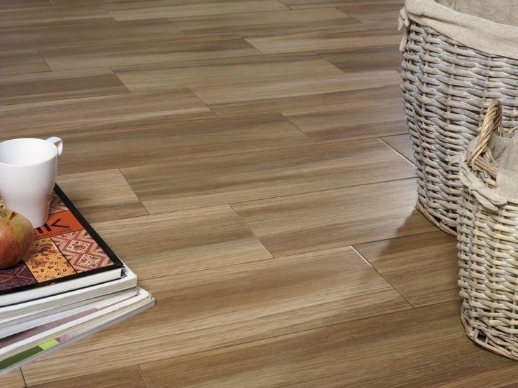 Saigón Gres imitación a madera INTERAZULEJO Paredes y pisos de estilo mediterráneo