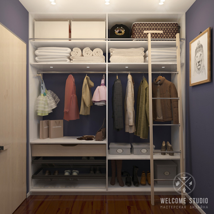 Мастерская дизайна Welcome Studio Scandinavian style dressing room
