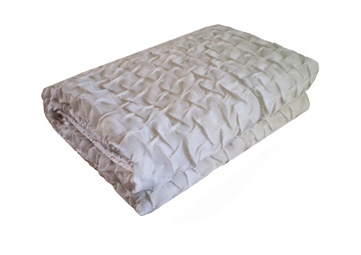 Hand Pleated Shell Throw in White, 260x260cm Nitin Goyal London BedroomTextiles