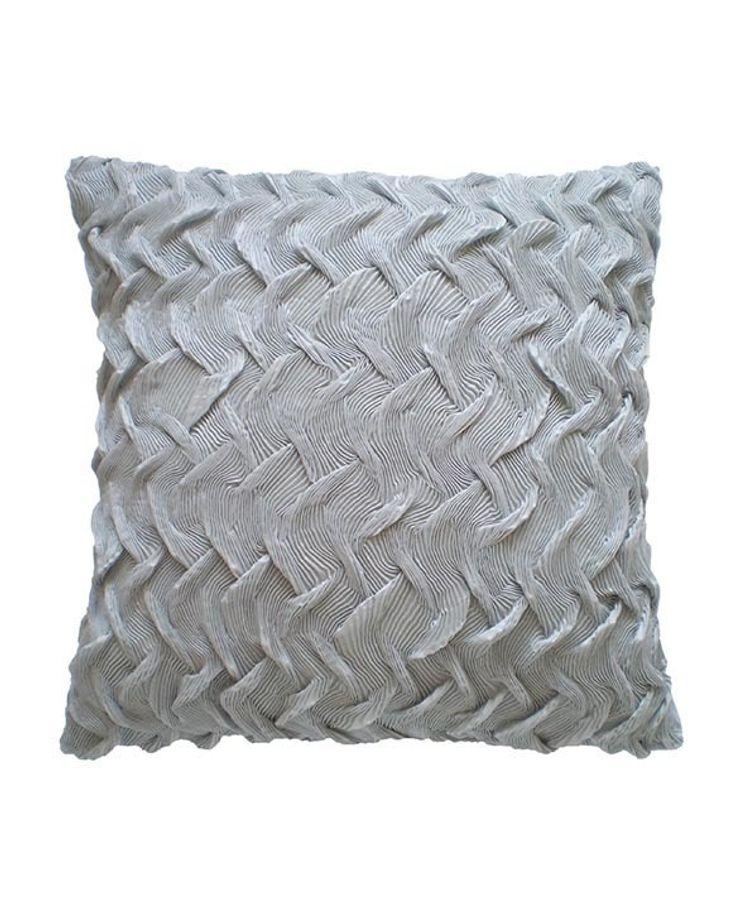 Hand Pleated Basket Cushion in Silver Grey, 40x40cm Nitin Goyal London BedroomTextiles