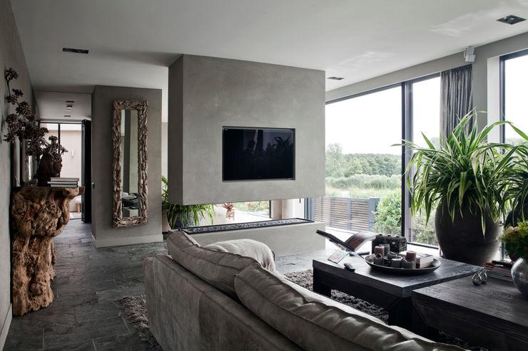 Studiozwart Architecten BNA Salas de estar modernas
