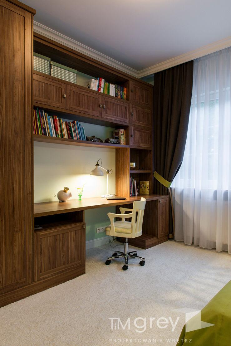 Classic Design - 230m2 TiM Grey Interior Design Klasyczny pokój dziecięcy