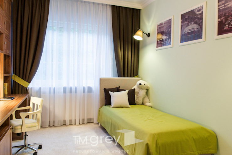 Classic Design – 230m2 TiM Grey Interior Design Klasyczny pokój dziecięcy