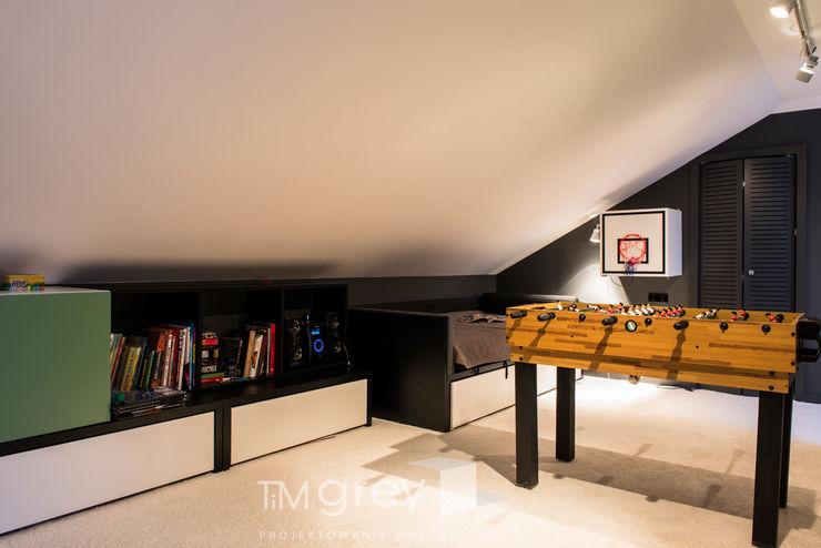 Classic Design – 230m2 TiM Grey Interior Design Nowoczesny pokój dziecięcy