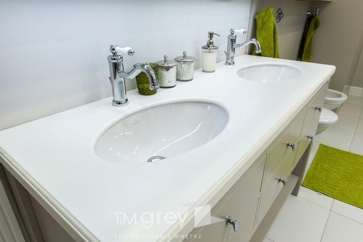 Classic Design – 230m2 TiM Grey Interior Design Klasyczna łazienka