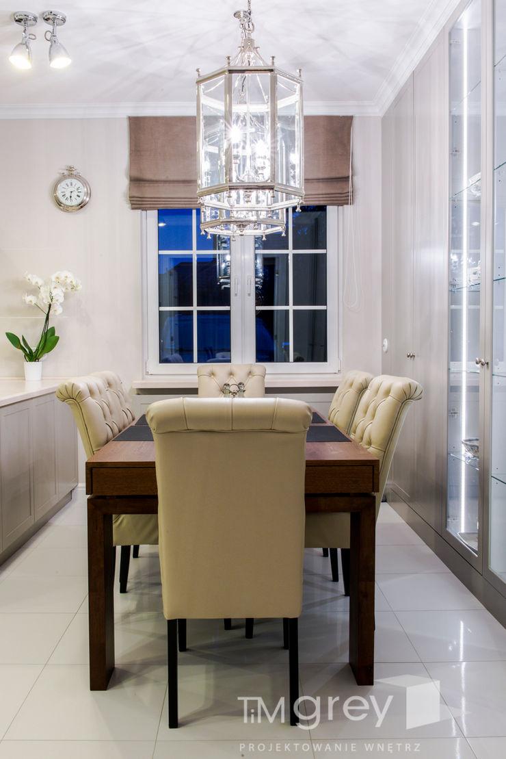 Classic Design – 230m2 TiM Grey Interior Design Klasyczna jadalnia