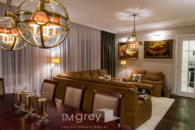 Classic Design – 230m2 TiM Grey Interior Design Klasyczny salon