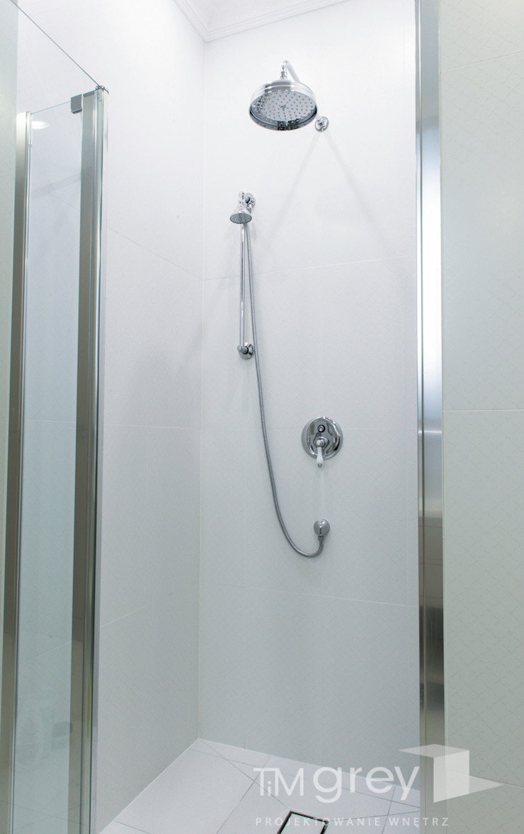Classic Design – 230m2 TiM Grey Interior Design ŁazienkaArmatura