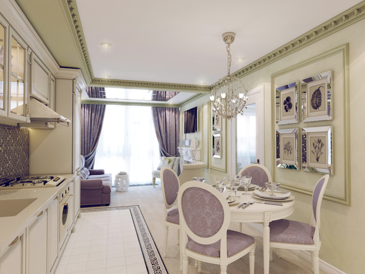 Volkovs studio クラシックデザインの キッチン