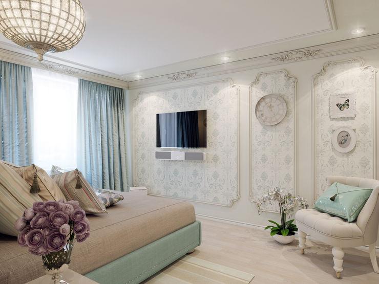 Volkovs studio クラシカルスタイルの 寝室