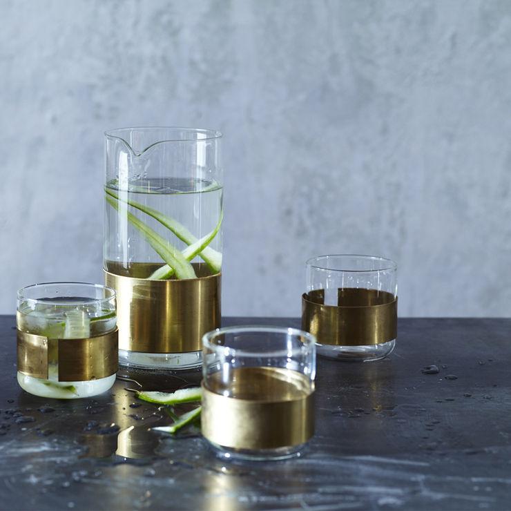 Aran Cuffed Carafe & Glass Rowen & Wren CocinaVasos, cubiertos y vajilla
