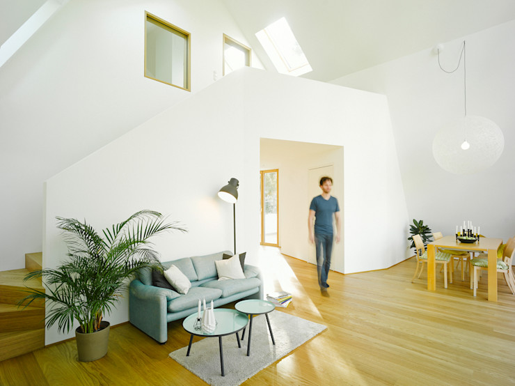 rundzwei Architekten 现代客厅設計點子、靈感 & 圖片