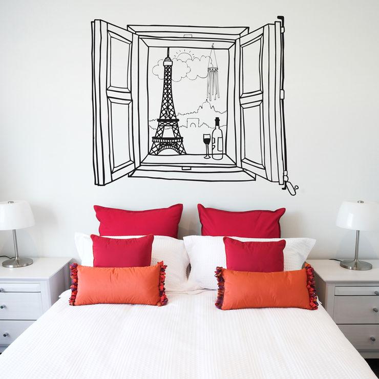 Vinilo decorativo Ventana París Chispum Paredes y pisosDecoración de paredes