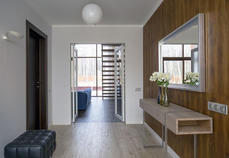 ALEXANDER ZHIDKOV ARCHITECT Scandinavian style corridor, hallway& stairs