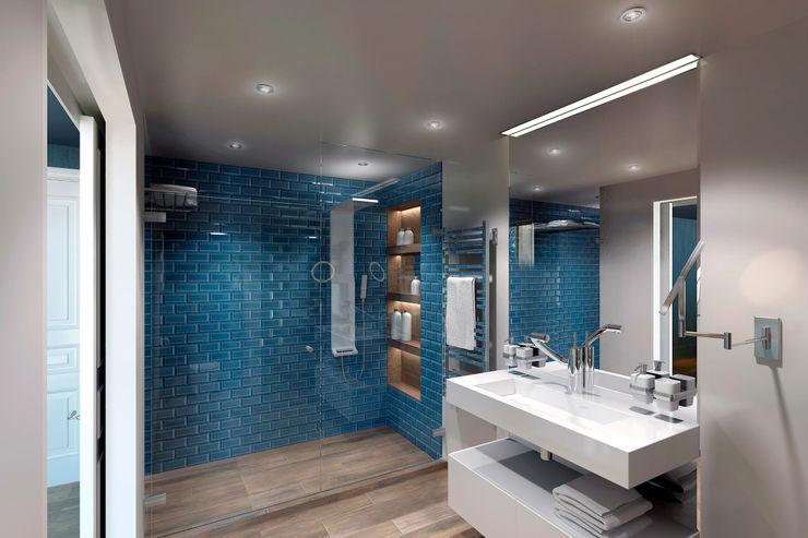 Хозяйский санузел lab21studio Ванная комната в эклектичном стиле