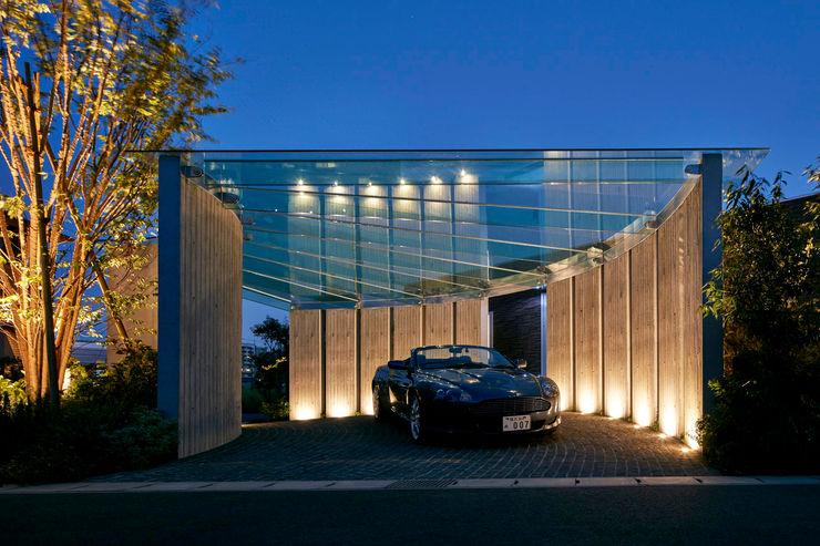 車寄せ夜景 Mアーキテクツ|高級邸宅 豪邸 注文住宅 別荘建築 LUXURY HOUSES | M-architects モダンな 家