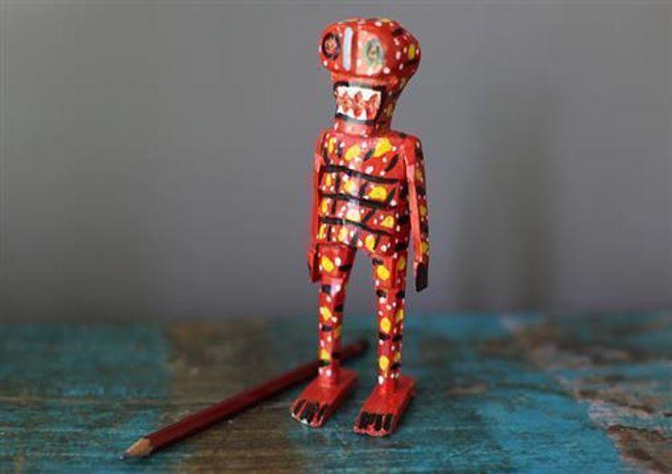 Hand Carved Mexican Wooden Skeletons Vintage Archive ArtePiezas de Arte