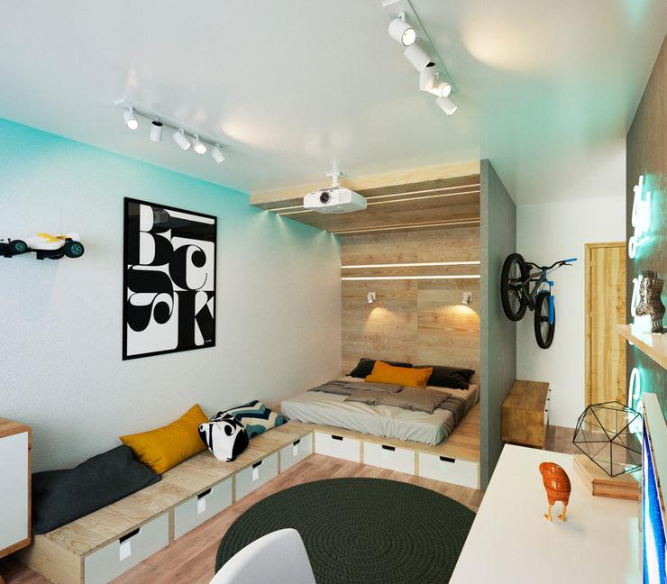 IK-architects Minimalist bedroom