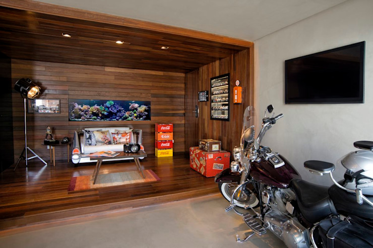 Projeto Casa Moderna - Jorge Elmor Elmor Arquitetura Salas de estar modernas