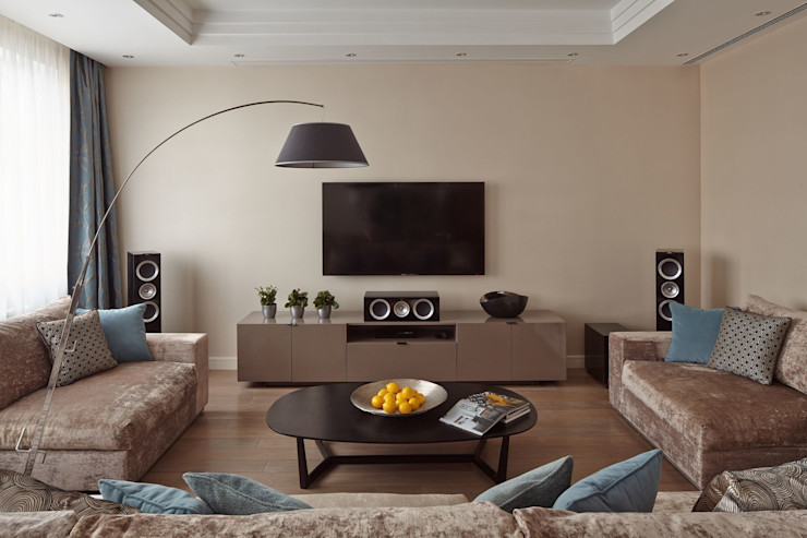 D&A INTERIORS Salas de estar modernas
