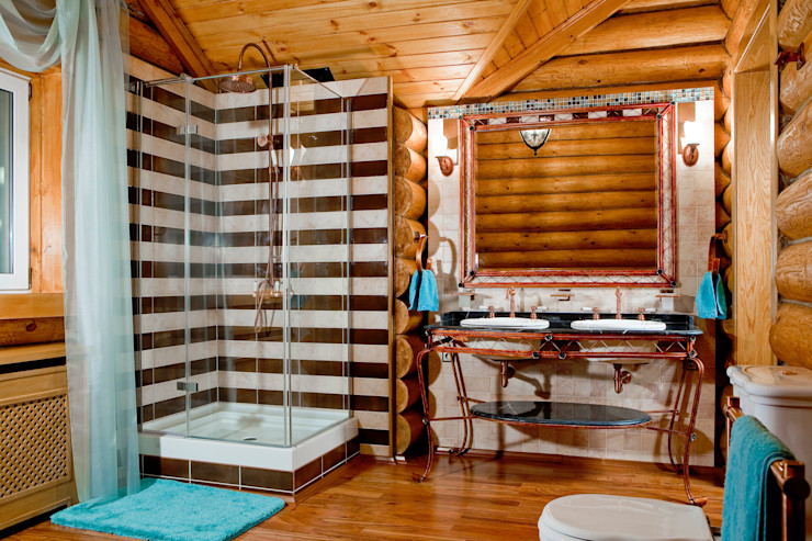 Amazing Studio Светланы Панариной Rustic style bathroom