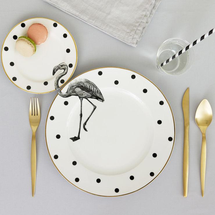 Fancy Flamingo Plate Set Yvonne Ellen Dining roomCrockery & glassware