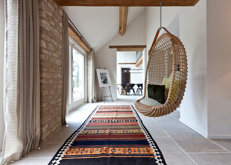 homify Rustic style corridor, hallway & stairs
