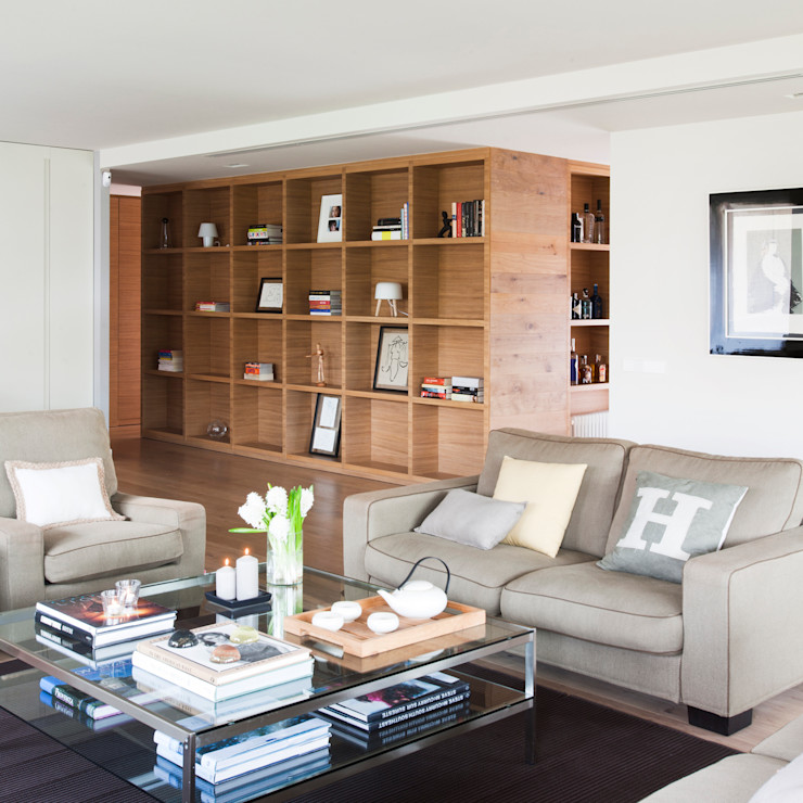 Salón y distribuidor A! Emotional living & work Salones de estilo minimalista