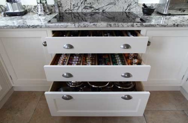 Soft close drawers John Ladbury and Company KitchenCabinets & shelves