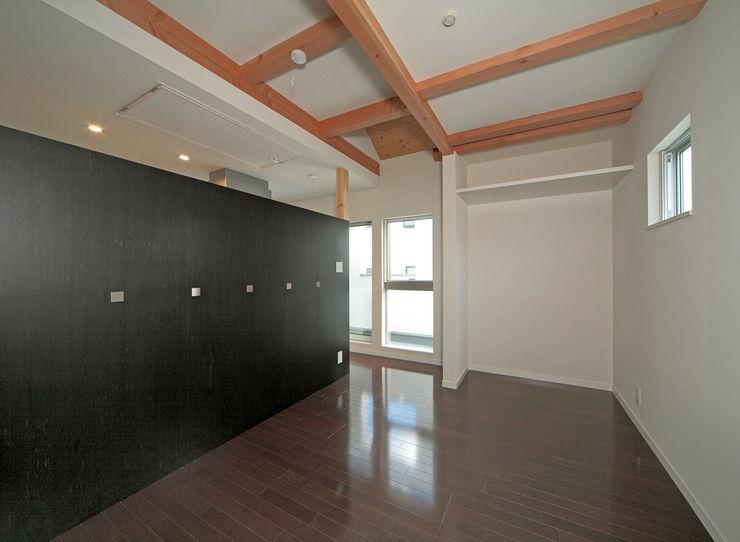 寝室コーナー 田崎設計室 モダンスタイルの寝室