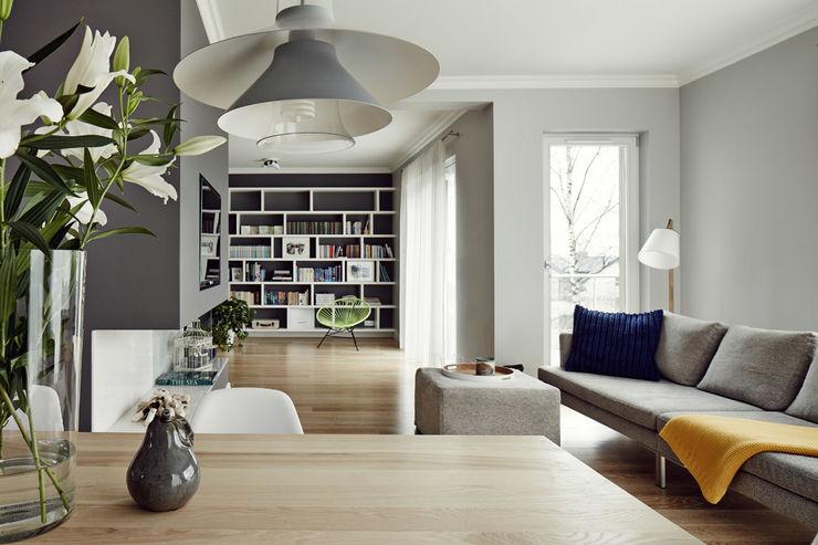 Apartament w Krakowie - salon AvoCADo Skandynawski salon