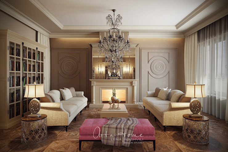 Лена Инашвили Art at Home غرفة المعيشة